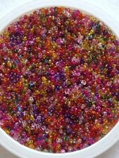 50 Gramos De Semillas De Vidrio Cuentas-mezclado Transparente-Aprox 2 Mm (tamaño 11/0) Multi Color