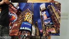 NEW YORK CITY LIGHTS DESIGN FABRIC BANNER FLAG 3FT X 2FT