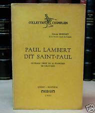 Paul Lambert dit Saint-Paul.  Par GÉRARD MORISSET