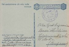 A5821) WW2, 8/9/43, BOLLO 20 RAGGRUPPAMENTO ALPINI SCIATORI MONTE CERVINO.