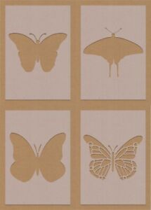 Butterfly  Insects mixed Fancy Stencil crafting craft decorating air brush