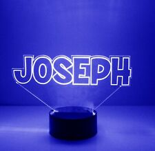 Name Light Up, Night Light Lamp - 16 Color LED w/ Remote - Custom Name Light Up