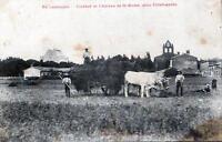 CPA 31 EN LAURAGAIS CLOCHER ET CHATEAU DE ST ROME PRES VILLEFRANCHE (SCENE D'AGR
