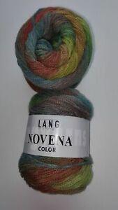 LANG YARNS NOVENA COLOR 220m/50g          Farbe 87 rost/hellgrün/blau