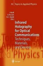 Infrared Holography for Optical Communications: Techniques, Materials and Devic