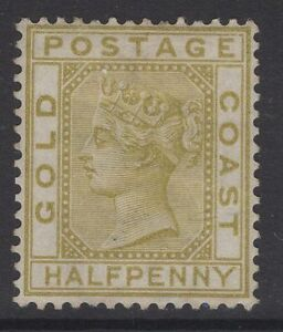 GOLD COAST SG4 1879 ½d OLIVE-YELLOW UNUSED