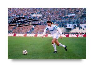 Chris Waddle Hand Signed 6x4 Photo Marseille Sheffield Wednesday Autograph + COA