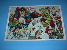 MARVEL COMICS THE DEFENDERS POSTER PIN UP WITH HULK ,SHADOW HAWK,HELLCAT,NAMOR