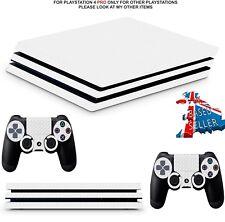 WHITE CARBON PS4 PRO **TEXTURED VINYL !** SKINS DECALS (PS4 PRO VERSION)  WRAP