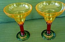 """New listing 2 Di Saronno Di Sarita 7.5"""" Plastic Margarita Martini Glasses"""