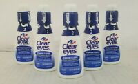 Clear Eyes Contact Lens Multi-Action Relief Eye Drops 15 mL (5 Pack) 02/20+