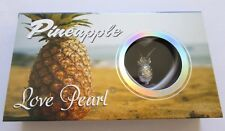Love Pearl- PINEAPPLE -Necklace & Pendant  genuine pearl in oyster-silver color
