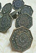 17 antique drawer pulls dresser cabinet door knobs brass vtg salvage 16 15 14 M4