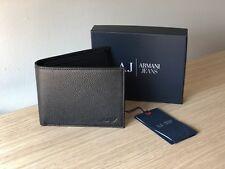 Armani Jeans para hombre Negro Cuero Billetera, Bi-Fold, estilo 06V2F Q7 12