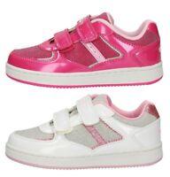 LELLI KELLY SERENA LK5806 FUXIA BIANCO scarpe bambina sneakers pelle strappo