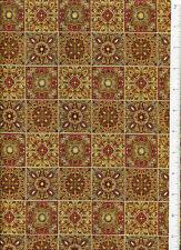 rjr ~ VINTAGE ANTIQUE TILE ~ fabric santa barbara california style 2005