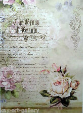 Rice Decoupage Paper / Decoupage Sheets  / Scrapbooking / Magic Rose  / Vintage