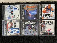 Lot of 6 Playstation 1 PS1 Sports Games Madden, Razor, Nba Live, Nhl, More