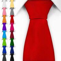 Eine klassische Krawatte inkl. Anleitung breit viele Farben Satin Schlips