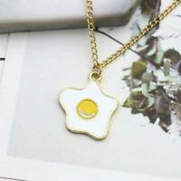 Fried Egg Pendant Charm Necklace For Women Fashion Egg Chain For Gift  LJ