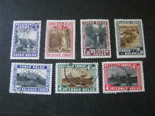 Belgian Congo Stamp Set Scott # 166-172 Lot 7