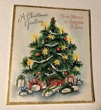 Vintage Christmas Card Christmas Greeting To The Mother Of Someone I Love New