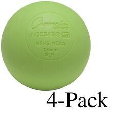Champion Sports Official Size Rubber Lacrosse Ball, Green (Pack of 4)