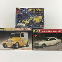 LOT 3 Revell 1/25 Scale Model Car Building Kits 69 Dodge Dart Mysterion 26 Sedan