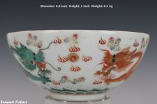 Fine Beautiful Chinese Famille Rose Porcelain Duo Dragons Bowls