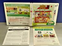 Animal Crossing Nintendo 3DS Case, Cover Art, Manual ONLY *NO GAME* FR Francais
