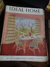 IDEAL HOME APRILE 1948 RIVISTA ORIGINALE VINTAGE ARREDAMENTO HOME GARDENING