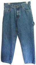 "ULTIMATE Boy's Jeans sz 20 Waist 33"" Length 28.5"" Blue Carpenter Style"