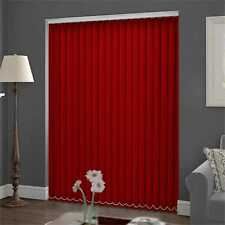 Blackout Vertical Blind 244cm (8ft approx) wide x 229cm Louvres in RED New