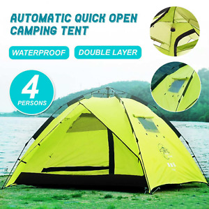Automatic Quick Open Camping Outdoor Tent 4-3 Persons Double Layer Waterproof