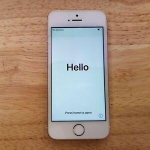 Apple iPhone Rose Gold SE 2016 64GB Sprint CDMA BROKEN HOME BUTTON - READ