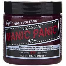 Manic Panic Semi-Permament Hair Color Creme, Fuchsia Shock 4 oz