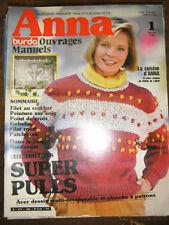 Anna Burda Ouvrages Manuels N°1 1984 Tricot Pulls Filet au crochet Patchwork ...