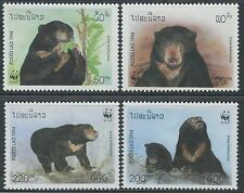 LAOS N°1139/1142** Ours, 1994 Bears On WWF Sc#1174-1177  MNH