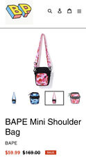 Bape ABC Mini Pink Camo Shoulder Bag Brand New 100% Authentic Shipped Next Day