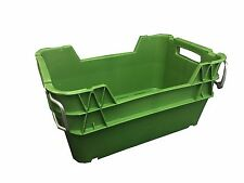 Produce Crate 22L with steel handles - green