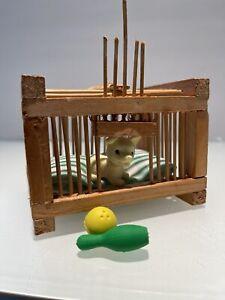 Dollhouse Miniature Diorama Wood Barbie Dog Animal Crate Cage 1:6 1:12