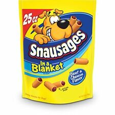 Snausages in a Blanket Beef and Cheese Flavored Dog Snack 25 Ounce