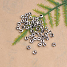 Wholesale Lots 100pcs Tibetan Silver Charms Loose Spacer Beads 4MM DK84