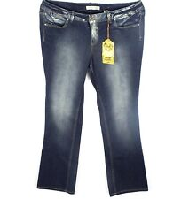 NWT Paris Blues Denim Jeans Size 20 Stonwashed Studded Embroidered Stretch