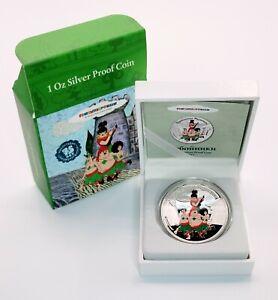 Cook Islands 2011 Soyuzmultfilm - Bremen Musicians - Robbers -Silver Proof Coin