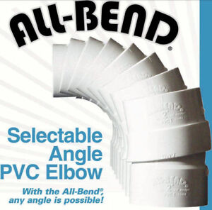 "3""  3-inch All-Bend selectable variable angle PVC schedule 40 pipe elbow"