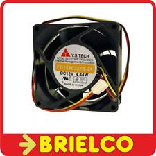 VENTILADOR TERMOPLASTICO 12VDC 4.44W 80X80X32MM 4400 ROTAC/MIN 3 CABLES BD11777