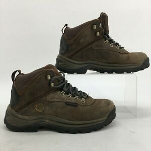 Timberland White Ledge Hiking Boots Womens 6.5 M Brown Leather Waterproof 12668