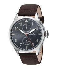 Peugeot Men's 'Day Date Calendar' Quartz Metal and Nylon Watch 2044SBR