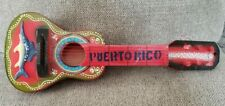 "Small Guitar Souvenir Puerto Rico Flag Design. 17"" X 6"" X 2"" Mini Acoustic Rican"
